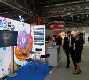 3D Exhibition Stand featuring backlit wall