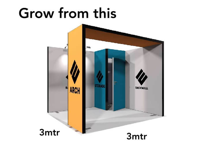 Grow from this Modular Fabric Exhibition Stand