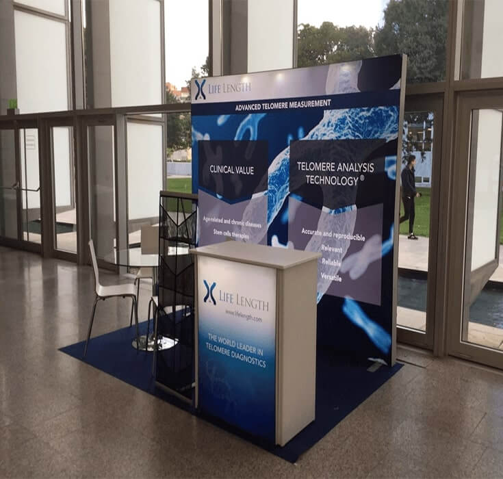 Lifelength Backlit Exhibition Stand from Nomadic Display