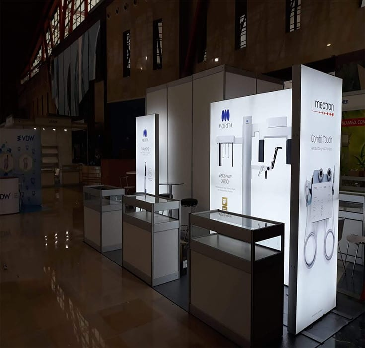 Mectron Backlit Exhibition Stand from Nomadic Display