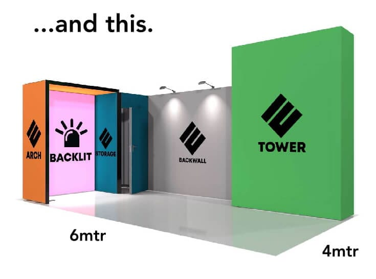 And this Modular Fabric Exhibition Stand